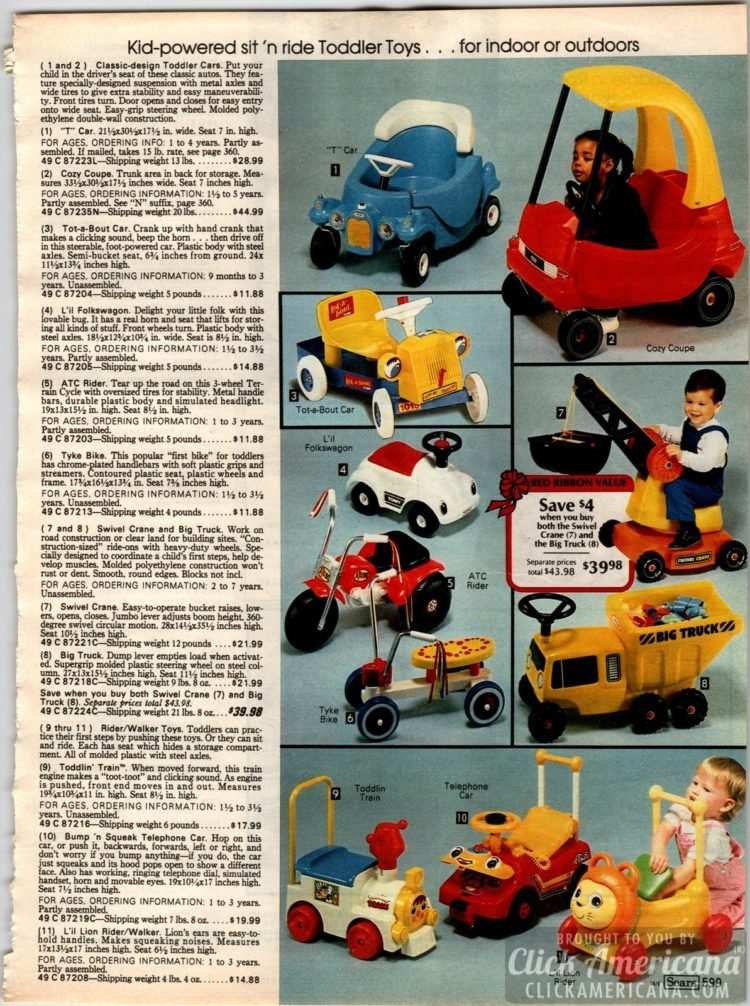 Sit n ride toddler toys - Cozy Coupe Cars and other ride-on toys for preschoolers