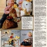 Adorable plush cuddle n rock rockers - stuffed horse toys - pluse ride-on toys & Sit n Spin by Kenner