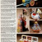Colorful crib & playpen fun with vintage Pooh, Mattel and Action Stacks toys
