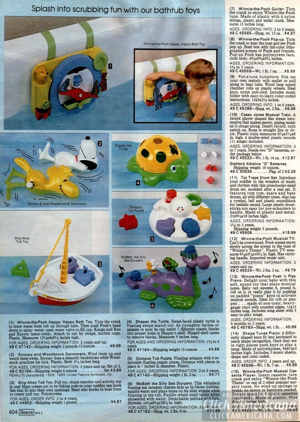 Bathtub toys and bath time fun for little kids