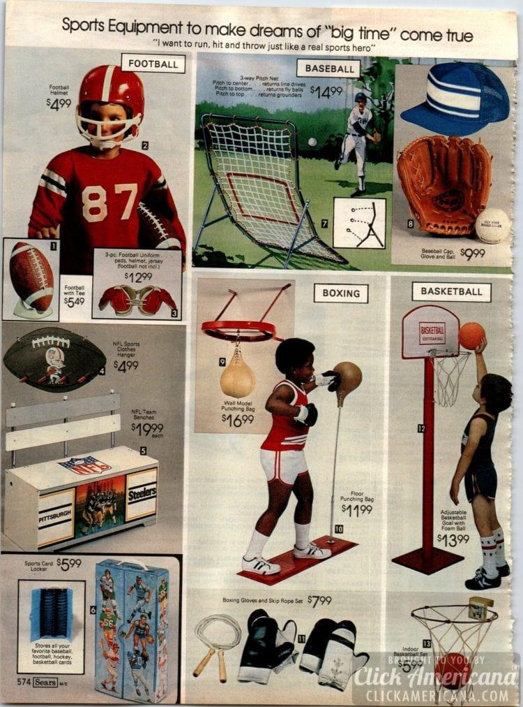 Sports equipment for kids - Football, Baseball, Boxing, Basketball
