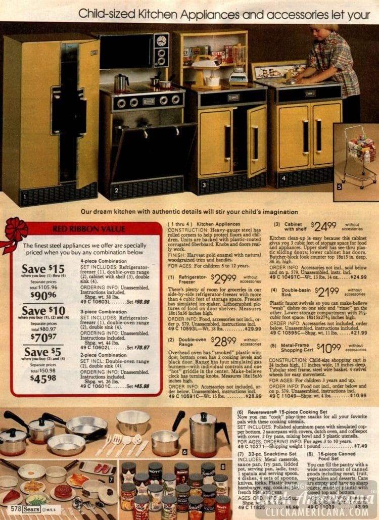 Child-side kitchen appliances and accessories