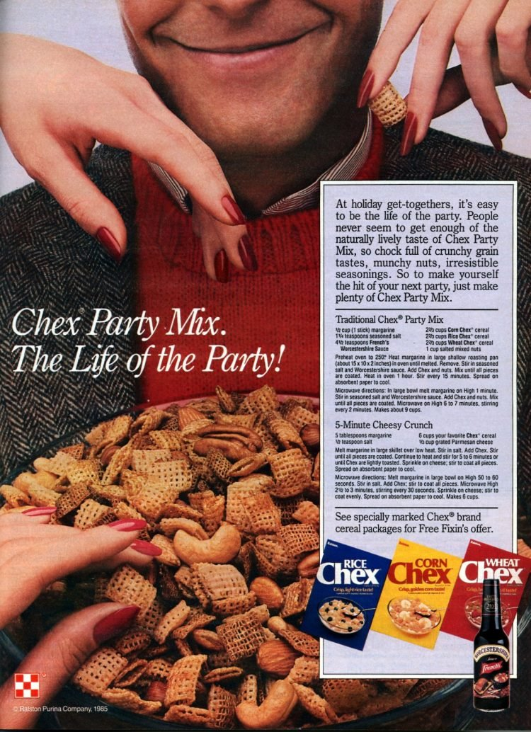 Traditional Chex party mix recipe from 1985