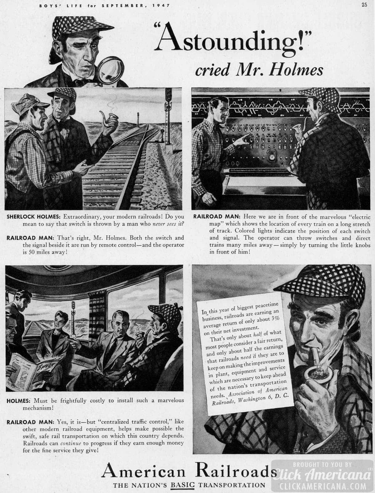 Trains of 1947 - Investigated by Sherlock Holmes