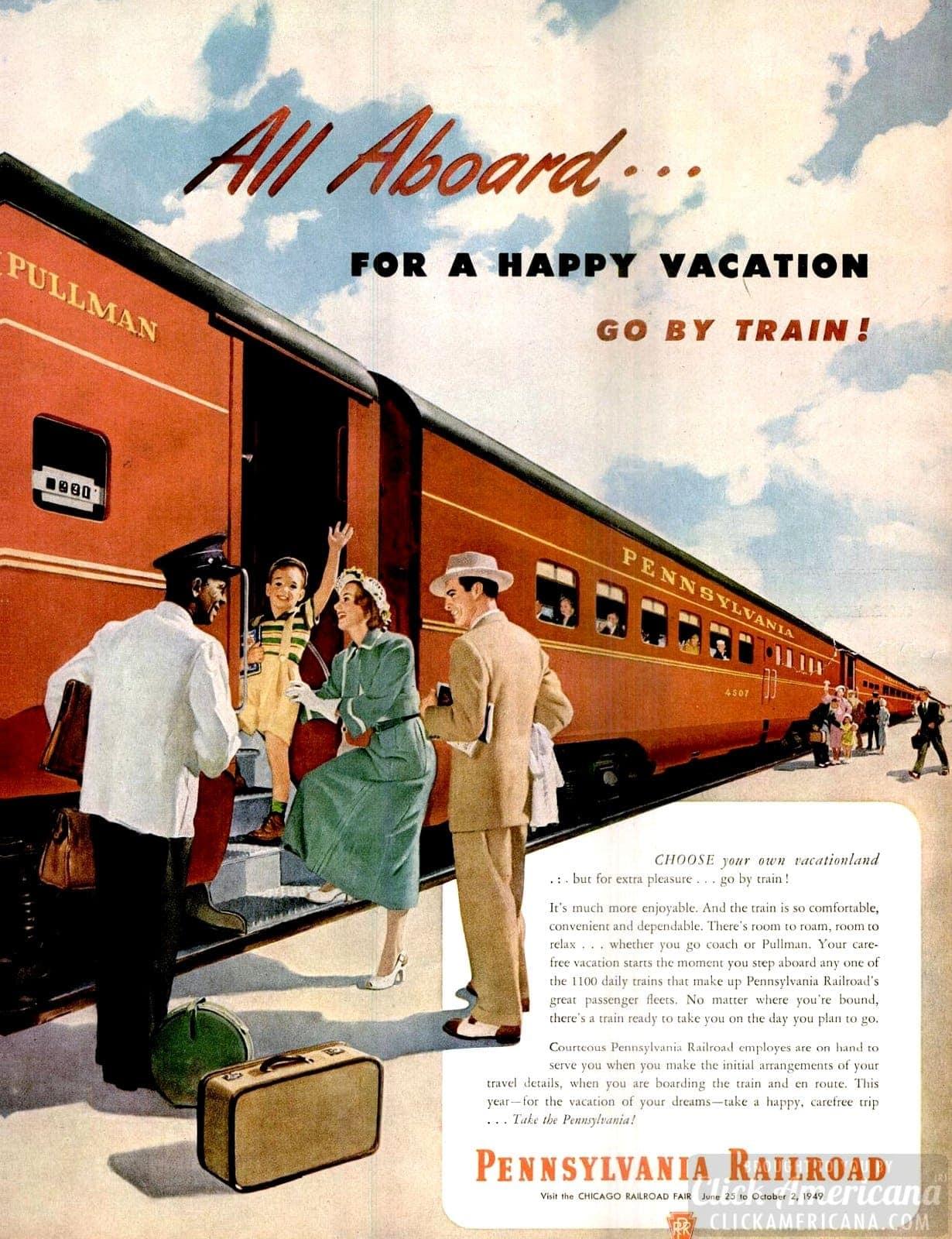 Trains of 1949 - Pennsylvania Railroad vacation