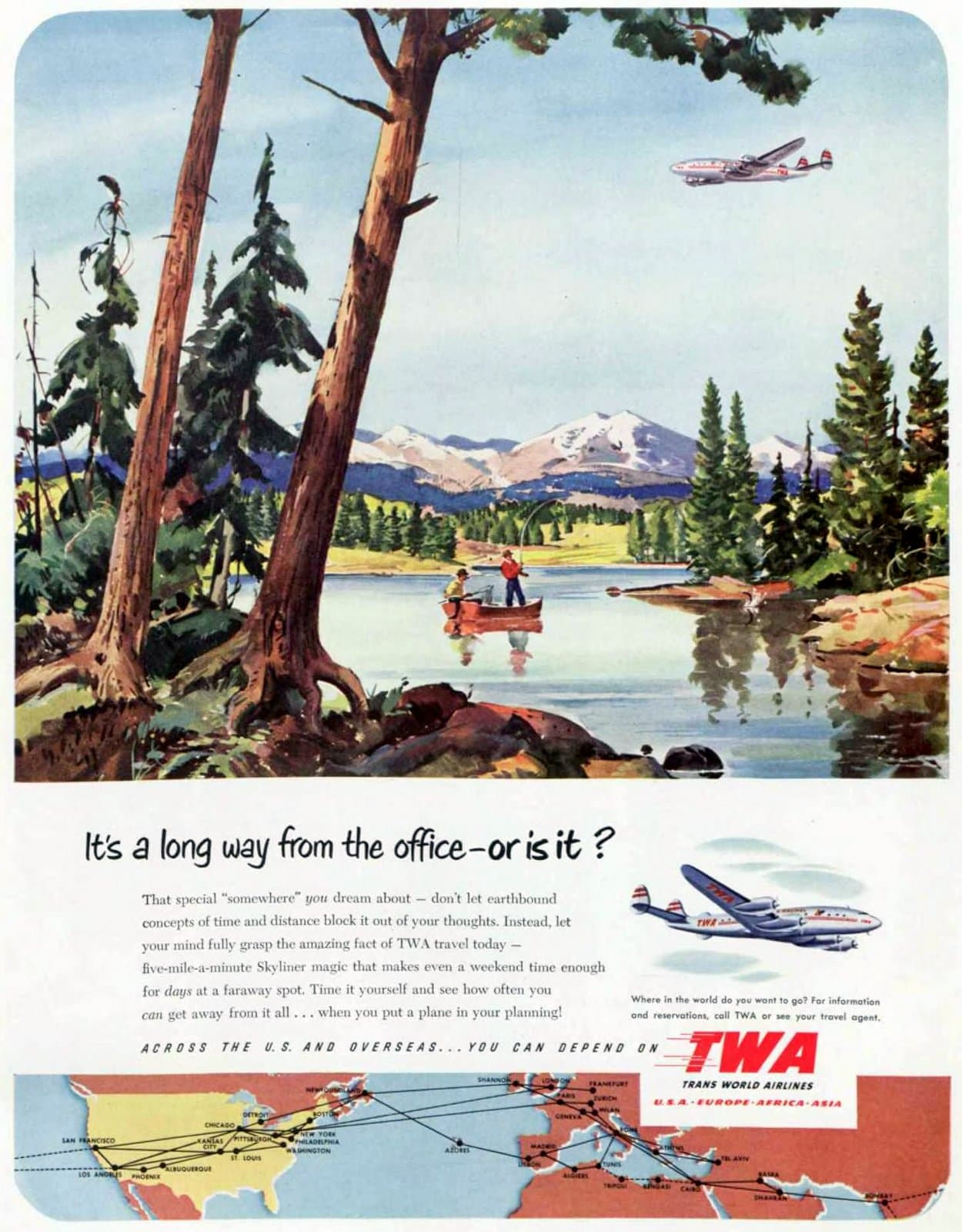 Trans World Airlines for vacations (1951)