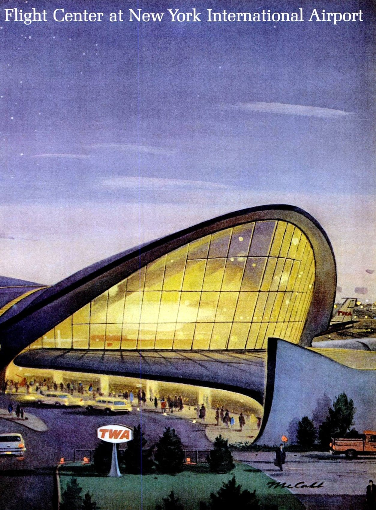 Trans-World Flight Center at NY International Airport - 1963 (1)