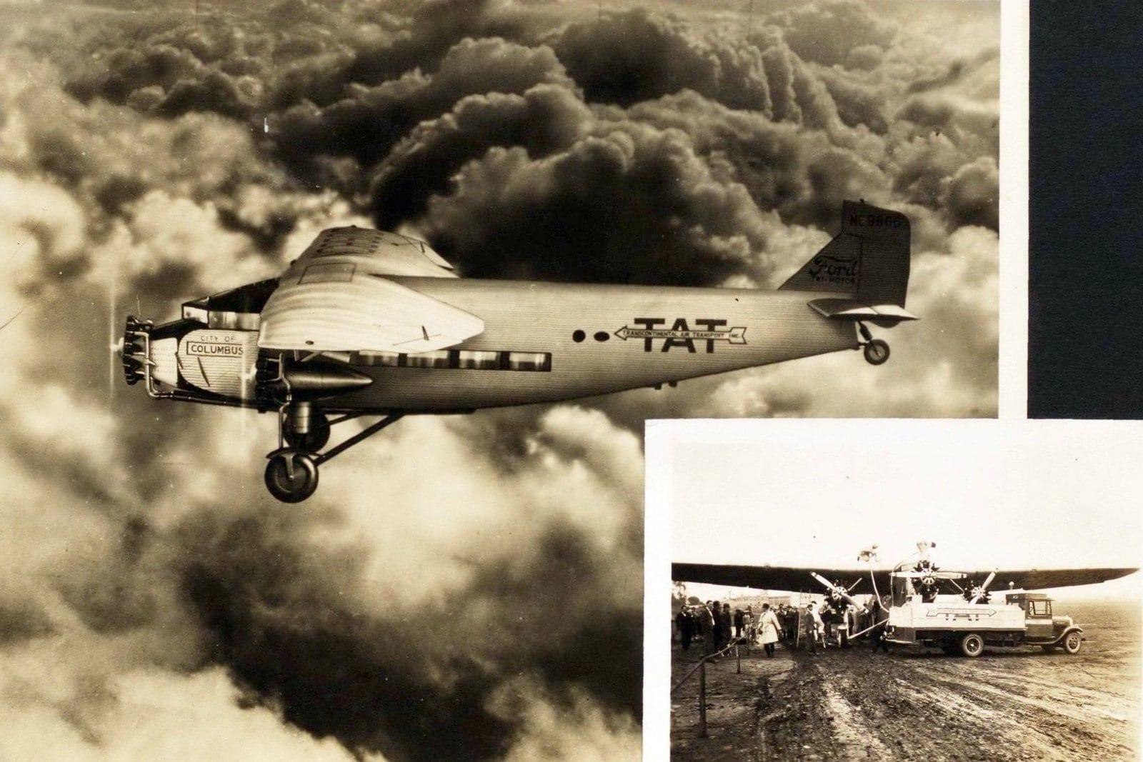 Photo of Transcontinental Air Transport (TAT) plane courtesy Smithsonian NASM