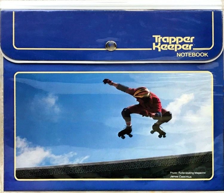 Trapper Keeper binder - Roller skating