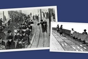 Travel by conveyor belt Why not! Futuristic ideas from the 1900s for moving sidewalk-style city transportation