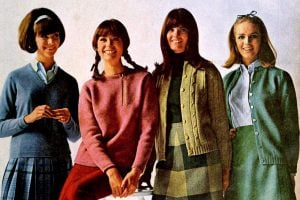 Trendy vintage 1960s sweaters