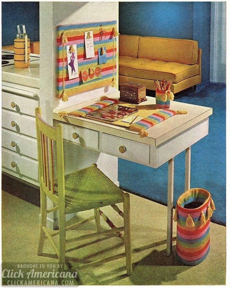 Smart Styles To Stitch Trim Your Planning Desk 1966