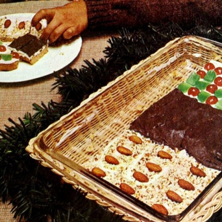 Triple Treat holiday bars Retro 3-in-1 pan cookies (1973)