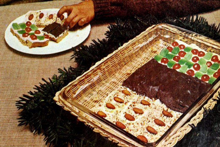 Triple Treat holiday bars Retro 3-in-1 pan cookies (1973)
