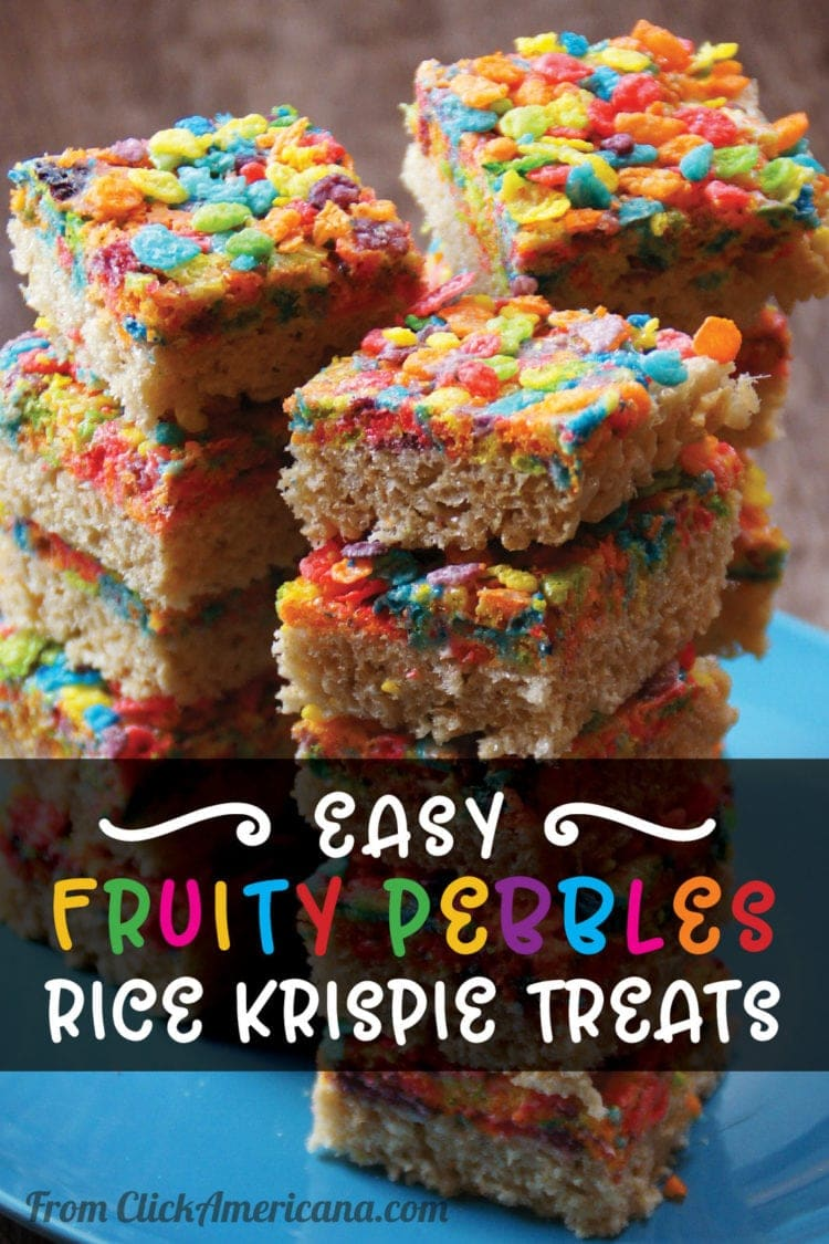 Try this easy Fruity Pebbles Rice Krispie treat recipe