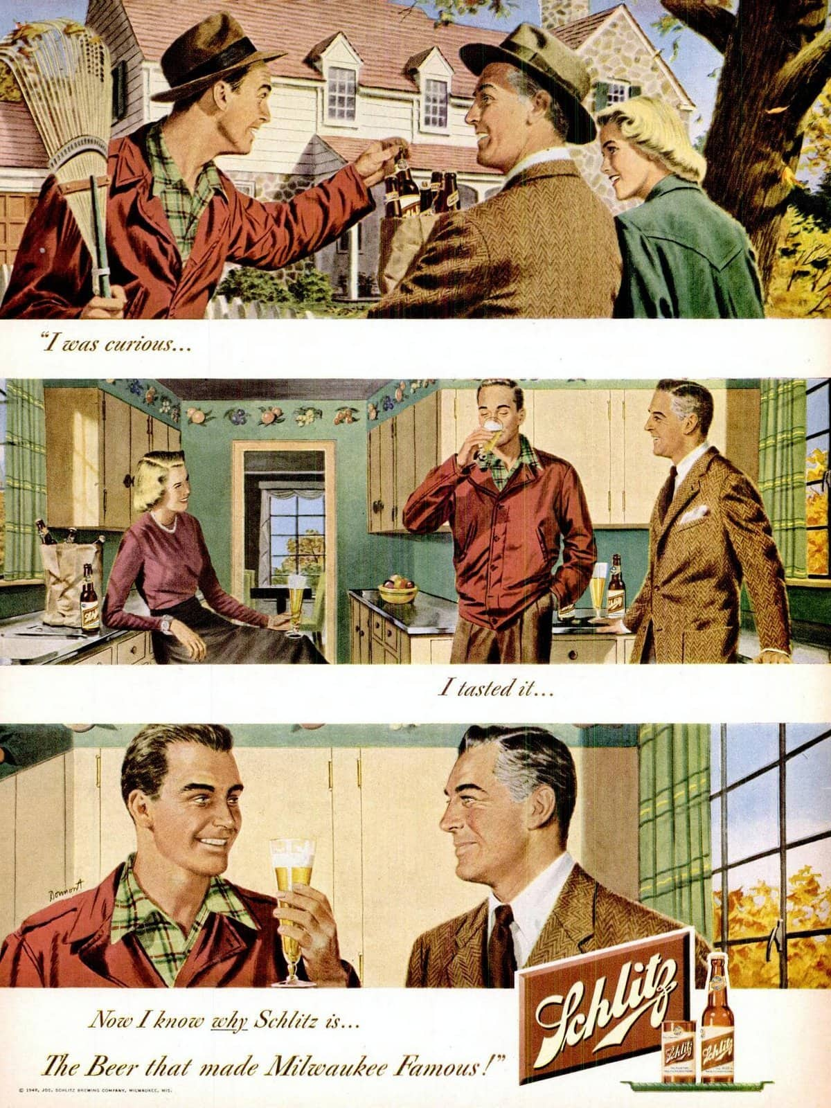 Trying beer (1948)