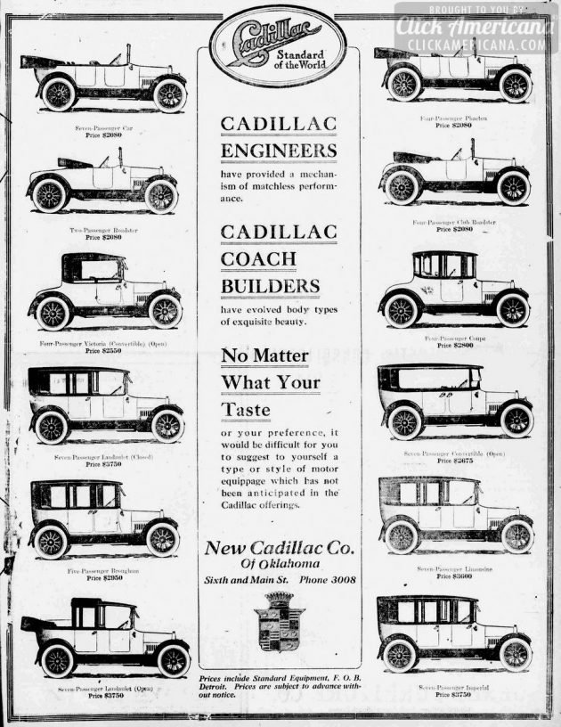 Tulsa daily world., December 03, 1916 - Vintage Cadillacs