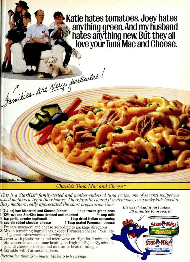 Tuna mac and cheese recipe from 1991 (1)