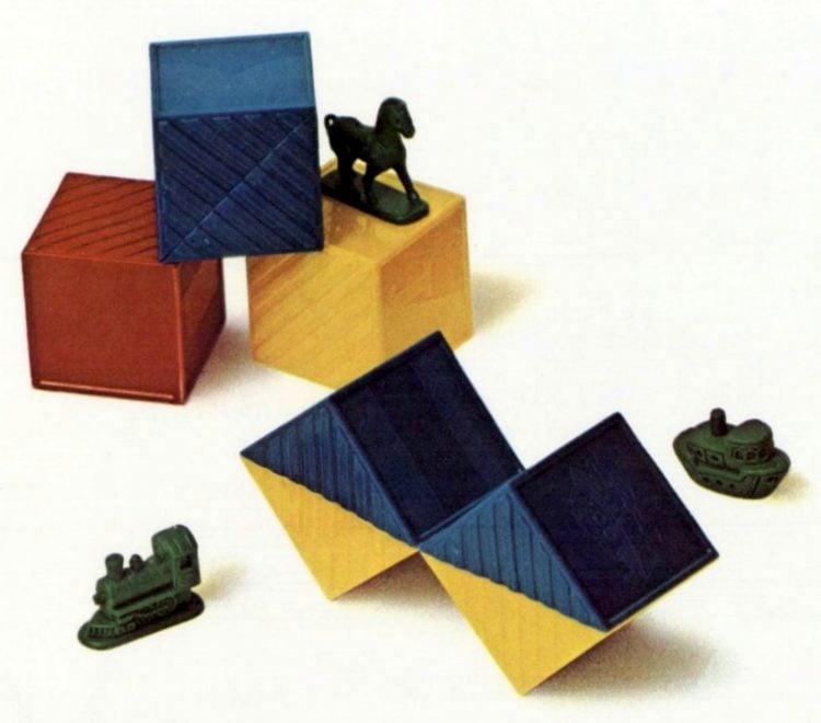 Tupperware Busy Blocks toys from 1972