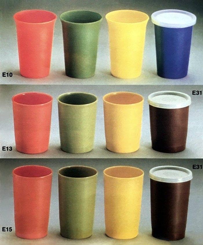 Tupperware vintage tumblers cups