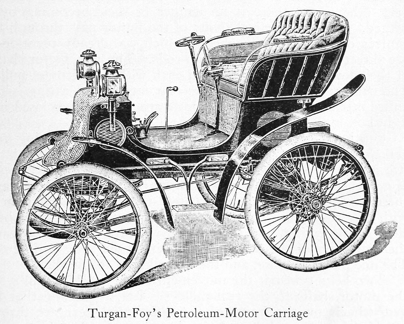 Turgan-Foy petroleum motor carriage (1899)