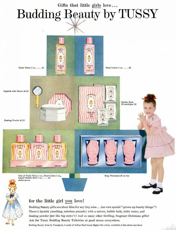 Tussy beauty gift sets for kids from 1955