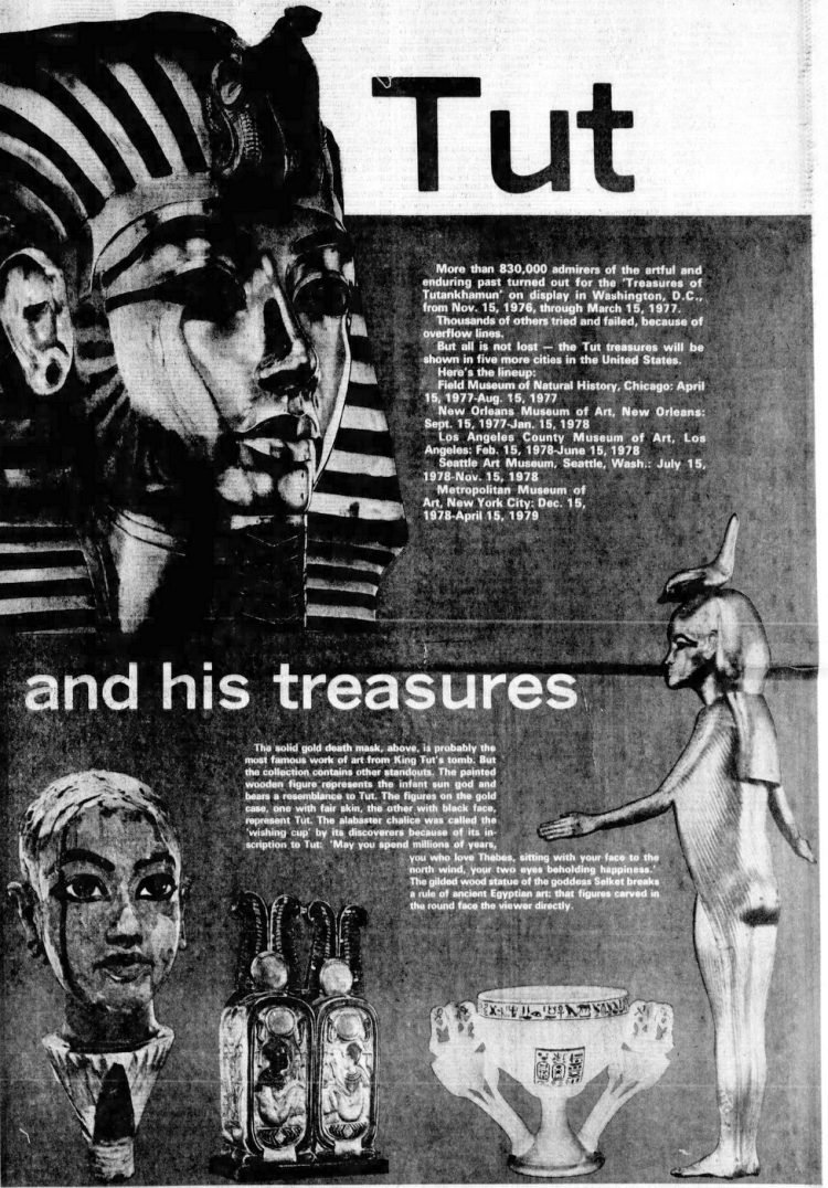 Tut and his treasures - Orlando Florida 1977