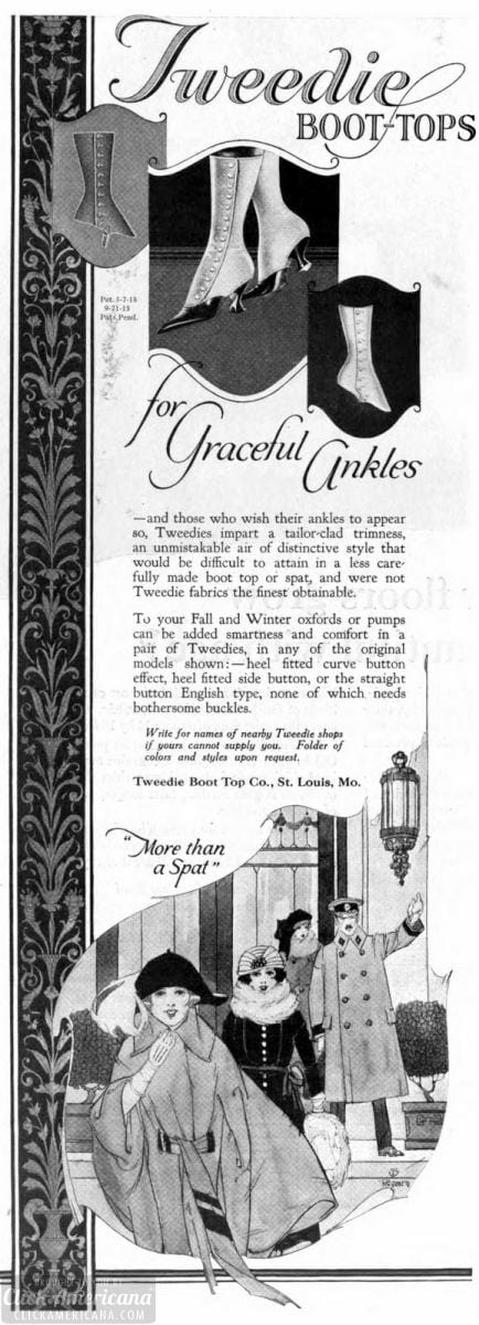 Tweedie boot-tops for graceful ankles (1921)