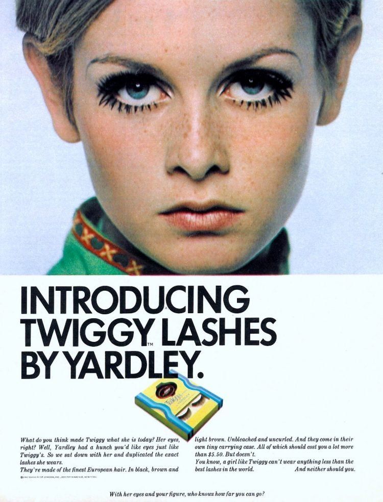 Twiggy Lashes by Yardley 1967