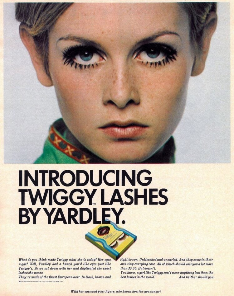 Twiggy lashes by Yardley - 1967