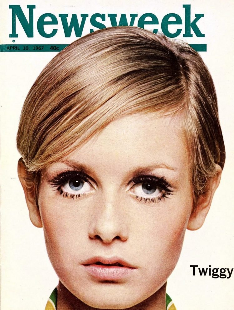 Twiggy on the cover of Newsweek - April 10, 1967