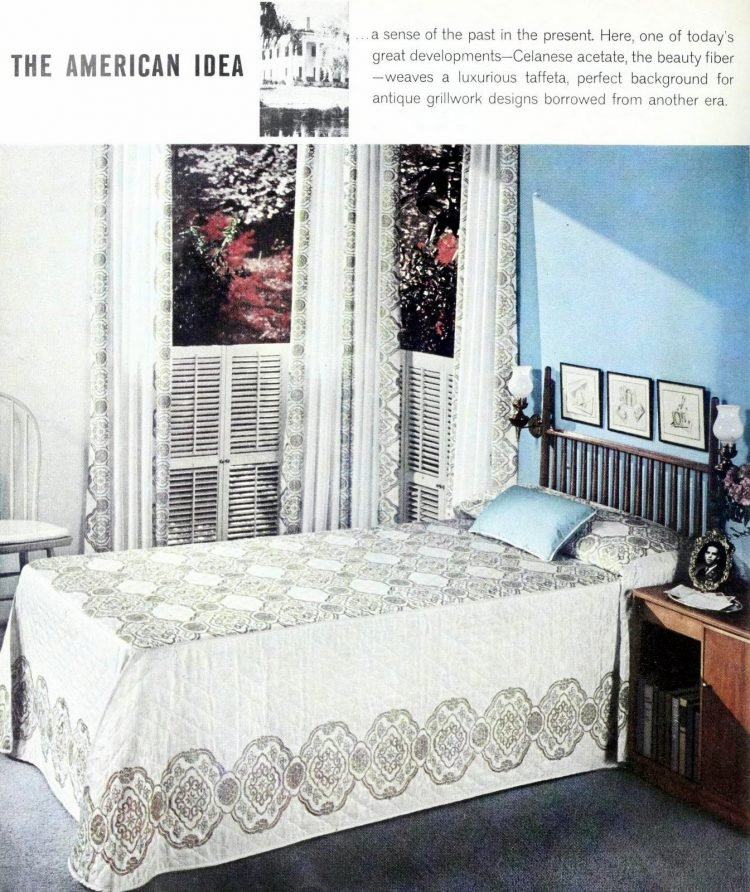 Twin bed in master bedroom - 1950s