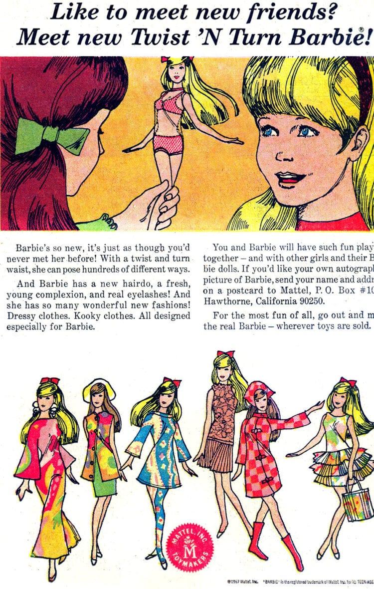 Twist N Turn Barbie from 1967