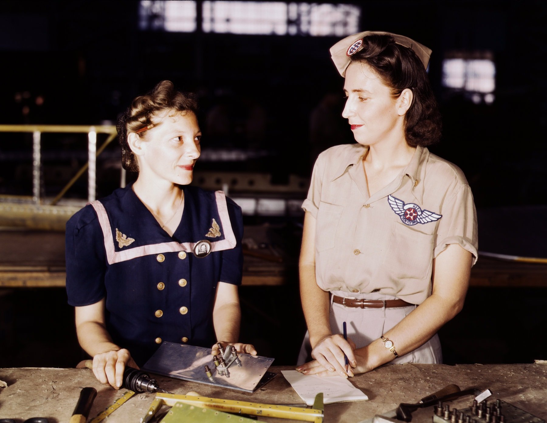 Two Pearl Harbor widows working at the Naval Base