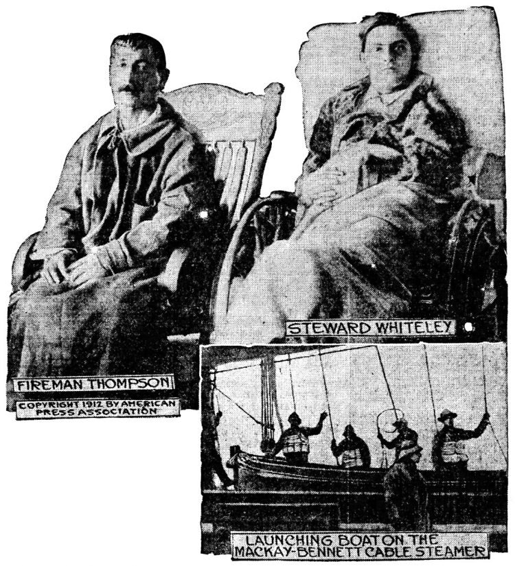 Two members of Titanic crew place blame for tragedy on White Star Line officials 1912