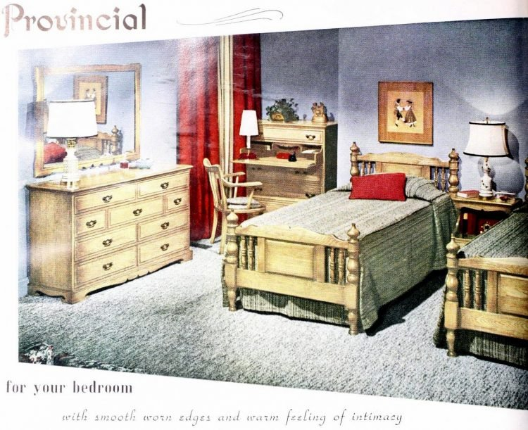 Two single beds for married couples from the 1950s (3)