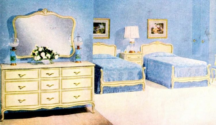 Two single beds for married couples from the 1950s (6)