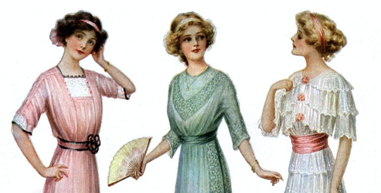 Two sweet old-fashioned bridal shower ideas (1913)