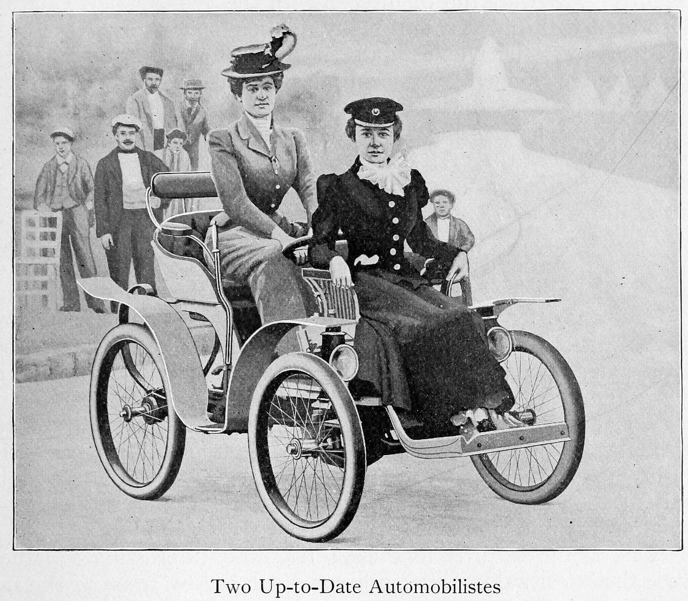 Two up-to-date Automobilistes (1899)