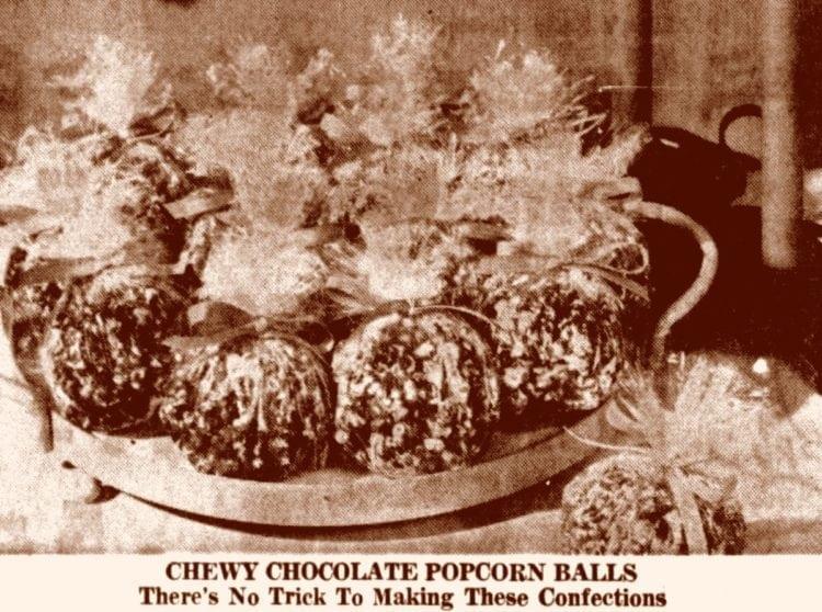vintage chocolate popcorn balls recipes