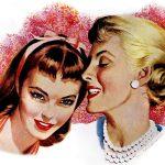 Two women gossiping 1950s