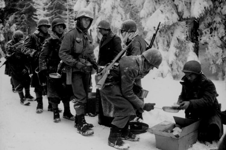 U.S. Army 347th Infantry Regimen during the Battle of the Bulge in January 1945