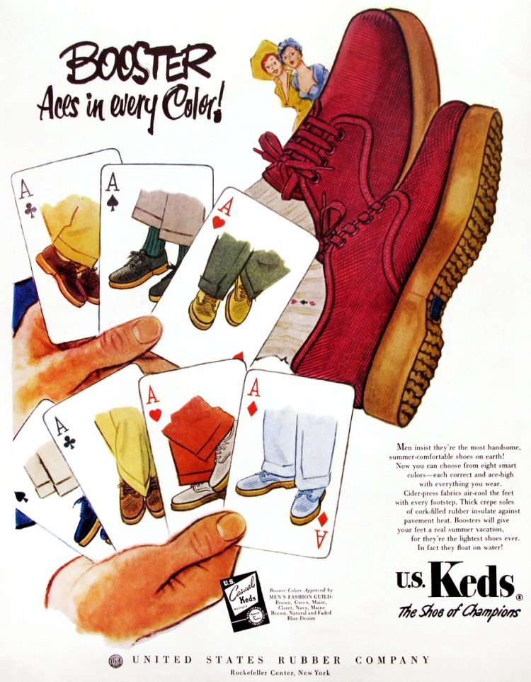 US Keds - sneakers and shoes from the fifties