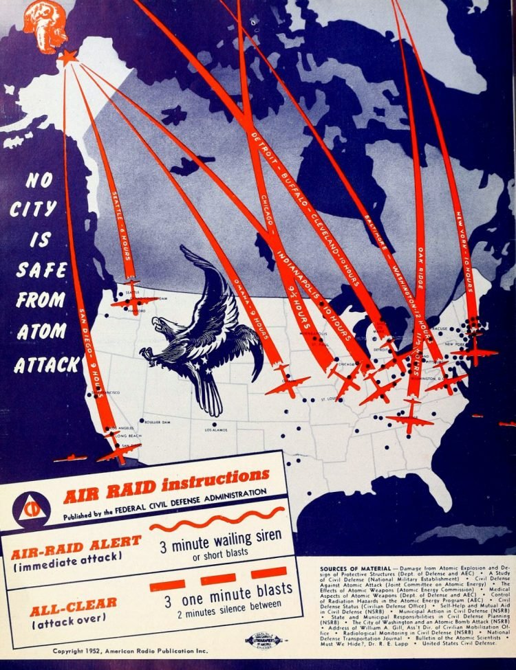 US Nowhere is safe from atom attack 1952