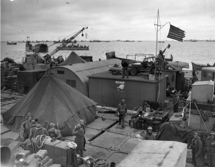 USD Navy Seabees on land WWII D-Day