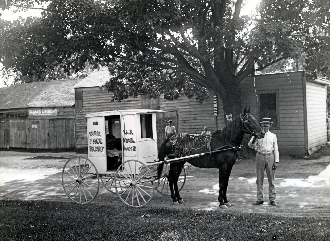 USPS Rural Carrier with Horse and Wagon 1905