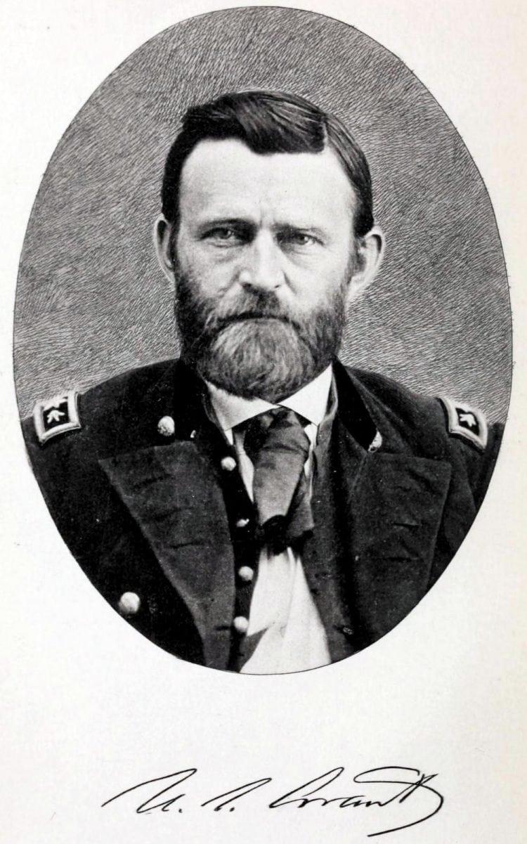 Ulysses S. Grant portrait during Civil War - with signature