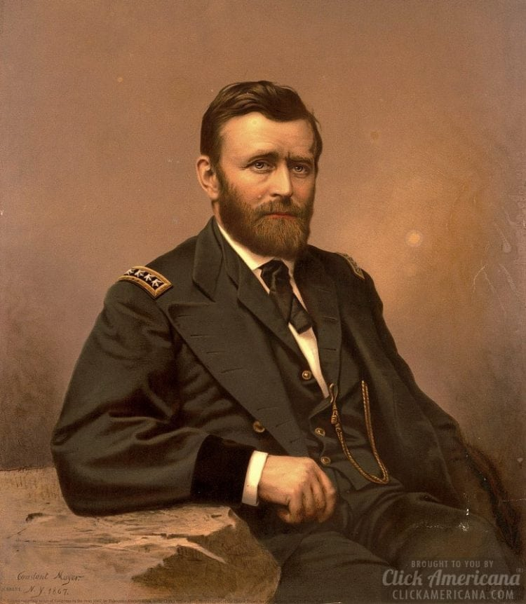 Ulysses S. Grant seated color portrait