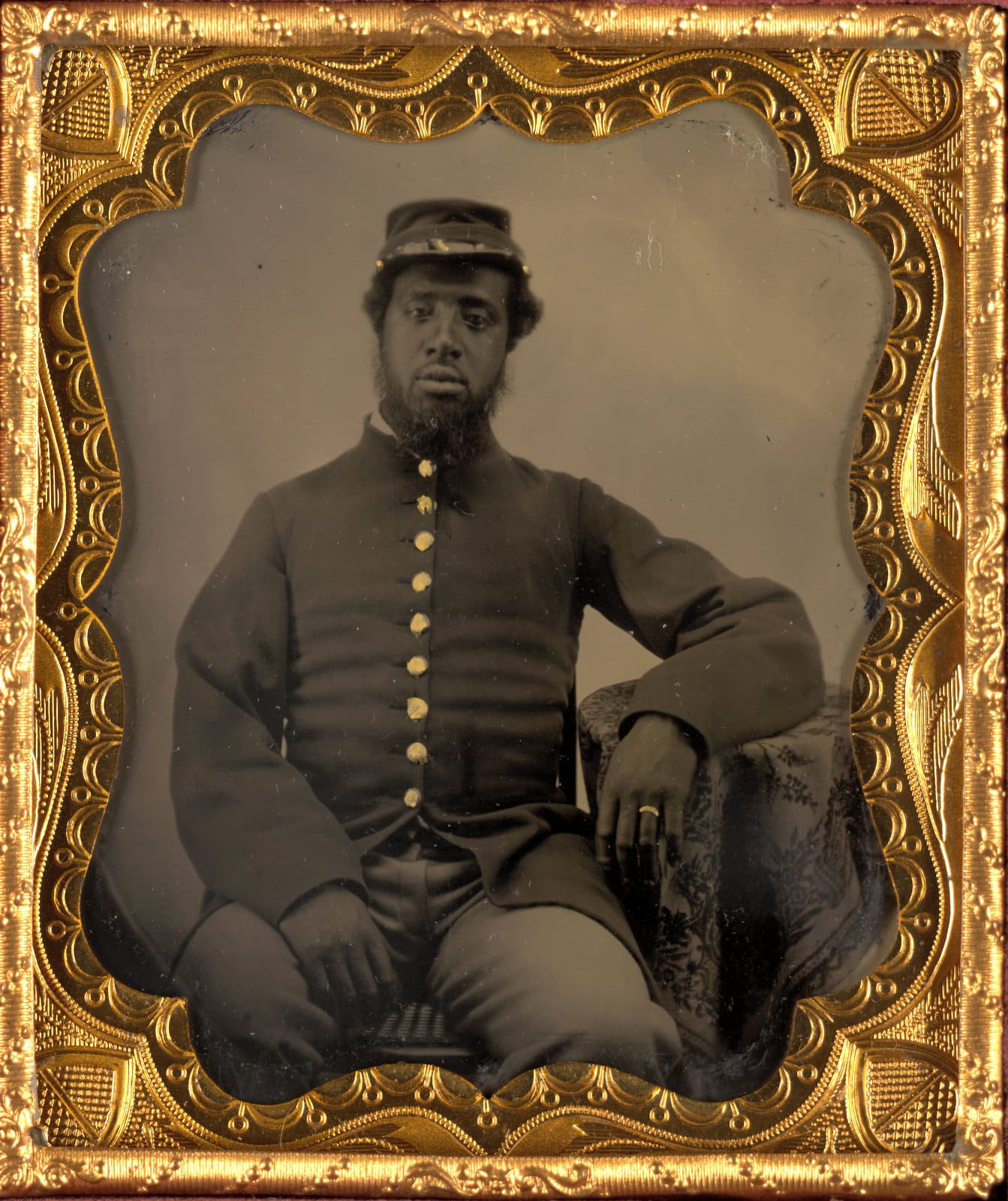 Unidentified African American soldier during the Civil War