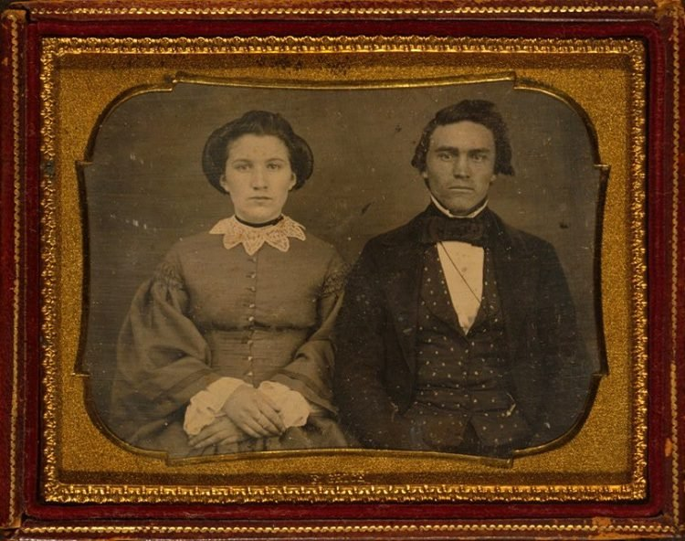 Unidentified couple from around 1855